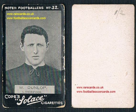 1908 Cope's Solace j Dunlop Liverpool Noted Footballers 32